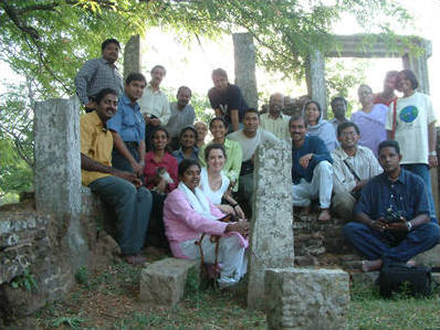 South Asian public interest environmental lawyers at ruins