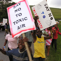 Children protesting toxic waste