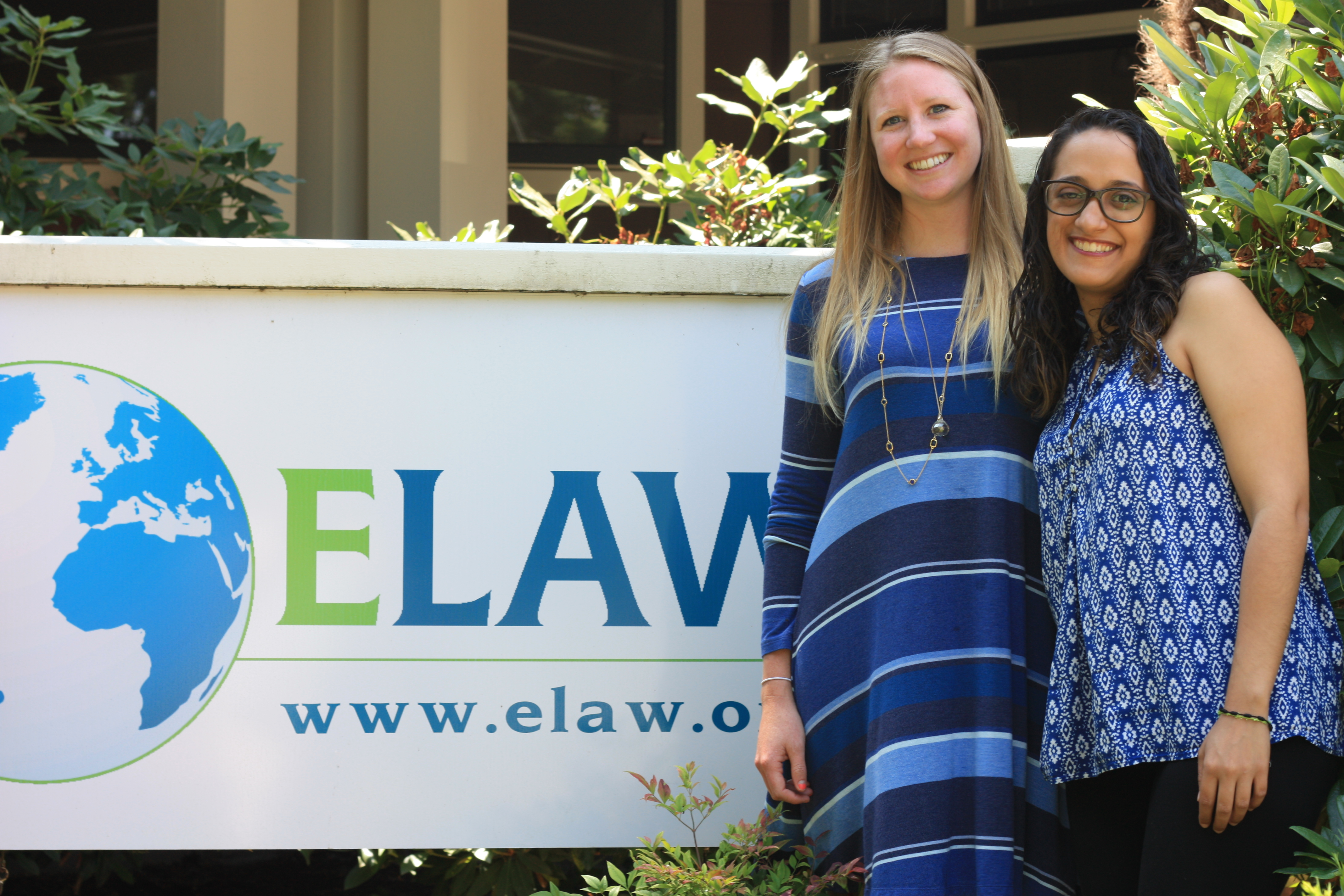 2017 ELAW Legal Interns Gina Rosario and Claire Kiss