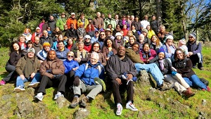 2015 ELAW Annual International Meeting participants at Cape Perpetua, Oregon