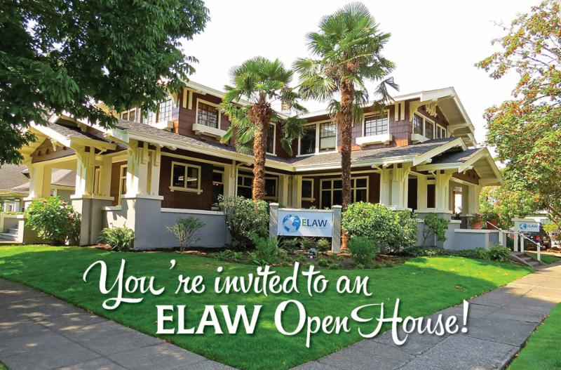You're invited to an ELAW Open House!